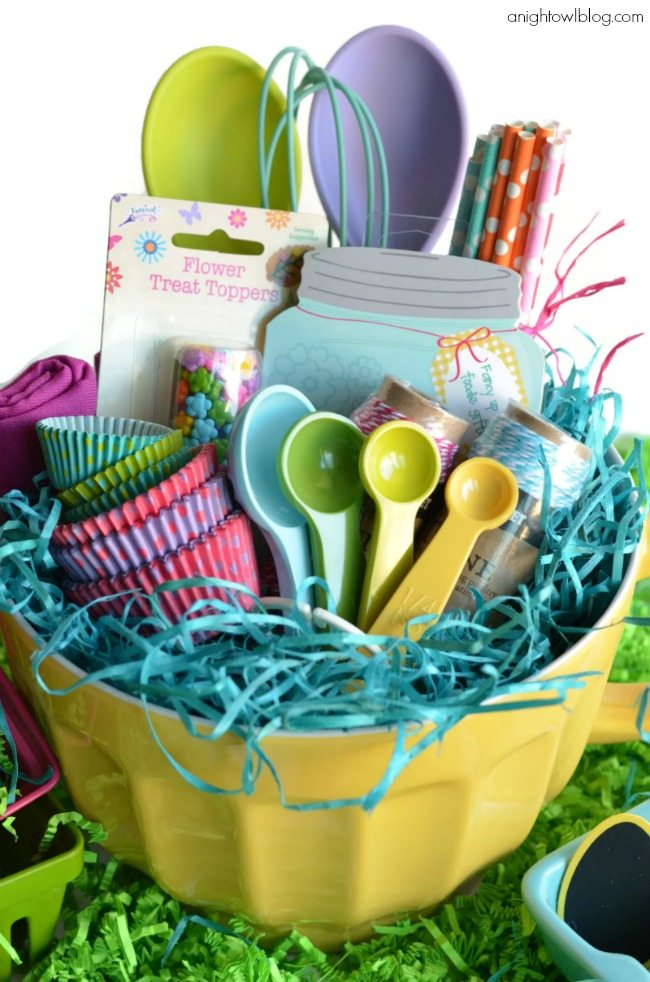 10 creative easter basket ideas your kids will love here comes baking themed easter basket a night owl blog negle Choice Image