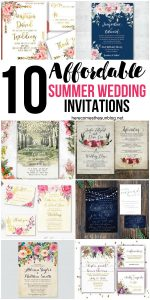 10 Affordable Summer Wedding Invitations