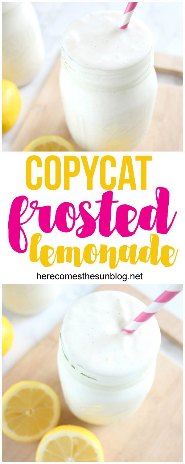 This copycat frosted lemonade is even better than the original. Only 2 ingredients!