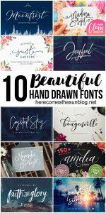 10 Beautiful Hand Drawn Fonts