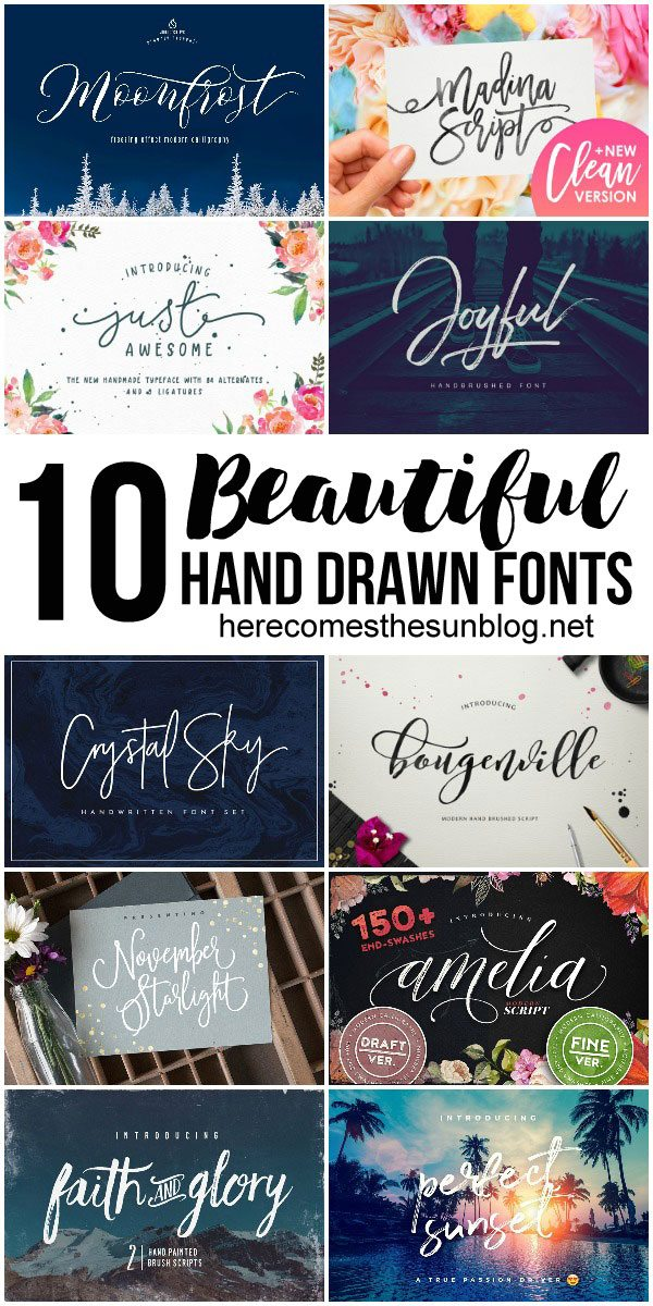 These hand drawn fonts are so amazing. I can't wait to use them in my designs.