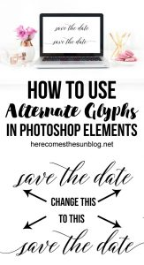 How to Use Alternate Glyphs in Photoshop Elements