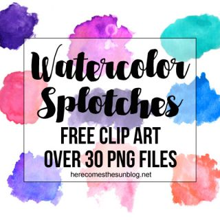 Watercolor Splotches Clip Art