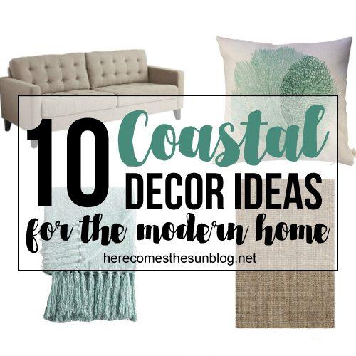 10 coastal decor ideas for the modern home here comes for Modern home decor instagram