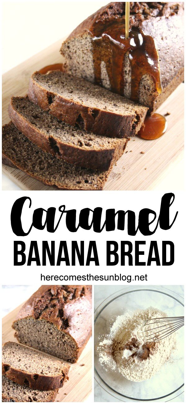 This delicious caramel banana bread makes for a decadent breakfast!