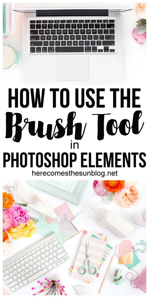 Learn how to use the brush tool in Photoshop Elements!