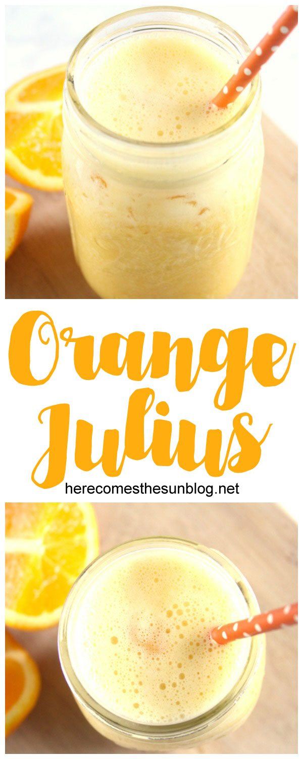This delicious Orange Julius recipe takes only minutes to make!