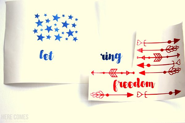 This patriotic wooden sign is easy to make with a Silhouette or Cricut machine. Get the free cut file and make this gorgeous decor piece.