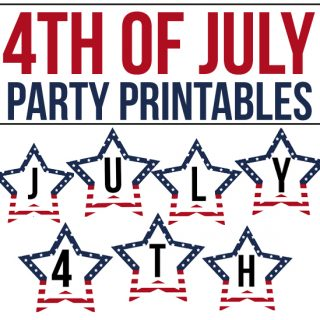 Festive and Free 4th of July Party Printables