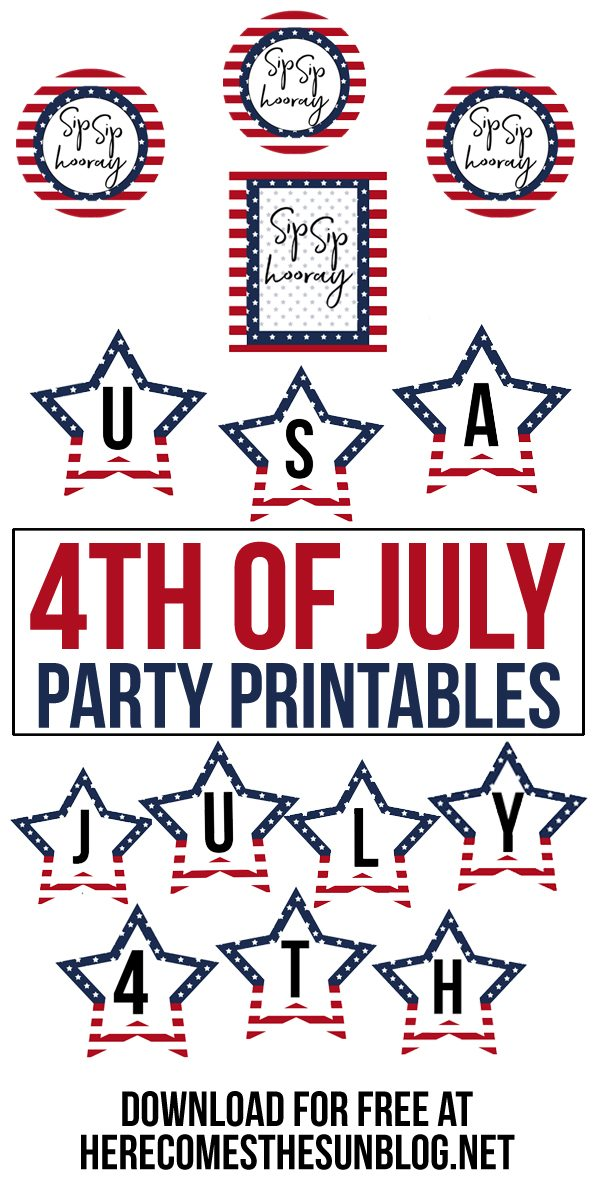 Create a festive party in minutes with these 4th of July party printables!