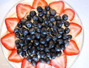30 Minute No-Bake Strawberry Blueberry Trifle Recipe