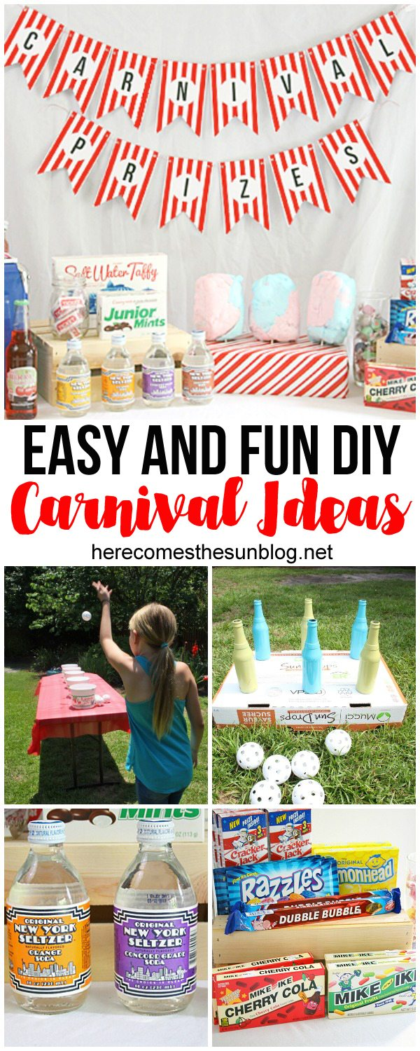 Easy and Fun DIY carnival ideas