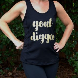DIY Workout Tank with Glitter Heat Transfer Vinyl