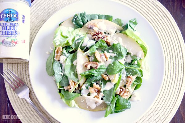 This pear walnut blue cheese salad is the perfect meal for summer.