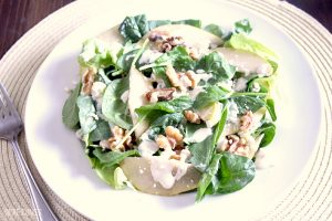Quick and Easy Pear Walnut Blue Cheese Salad