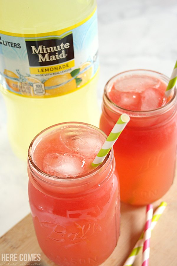 This watermelon lemonade is refreshing and delicious.