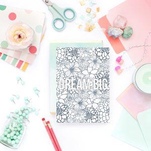 Dream Big Coloring Page Printable