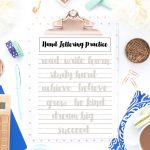 These back to school themed hand lettering practice sheets are perfect practice for kids and adults!