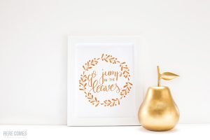 Hand Lettered Quote: Go Jump in the Leaves