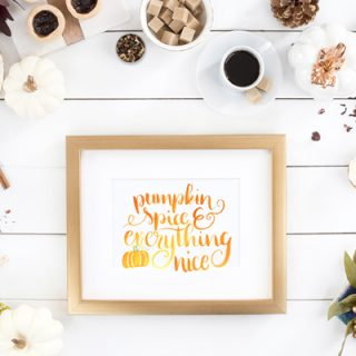 Watercolor Pumpkin Spice Quote Print