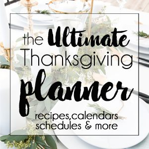 Ultimate Thanksgiving Planner