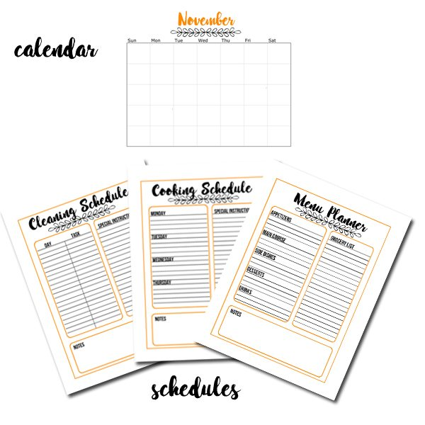 This Thanksgiving Planner is your go-to guide for a successful holiday. Includes everything from recipes to schedules to kids activities.