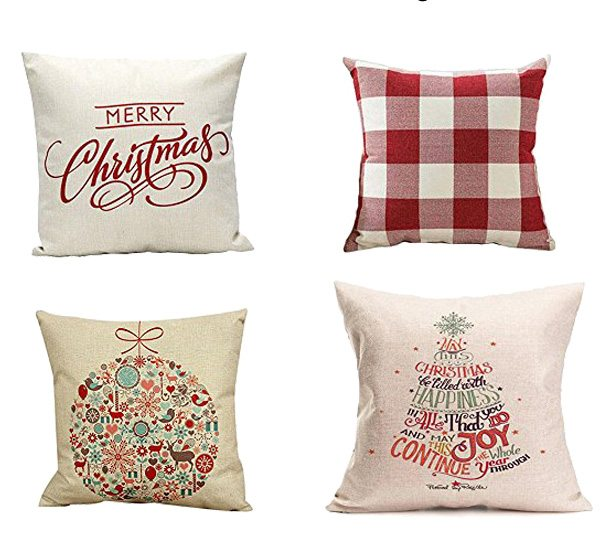 Change out your normal decor for holiday decor with these affordable Christmas pillows!