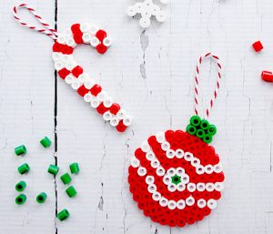 Perler Bead Christmas Ornaments