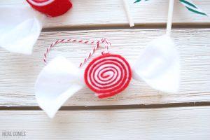 Easy Felt Candy Ornaments