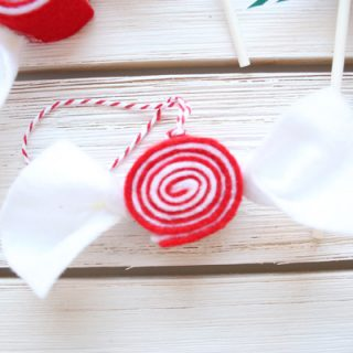 Easy Felt Candy Ornaments