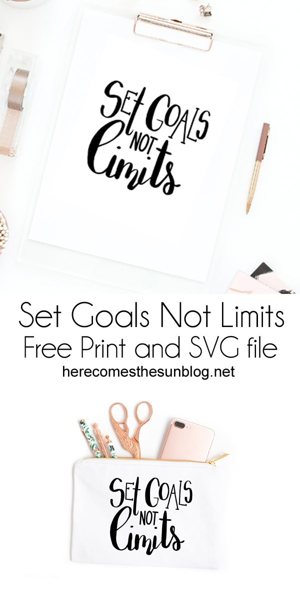 This goal setting print and svg will keep you motivated and focused on your goals. Print out and hang for instant motivation.