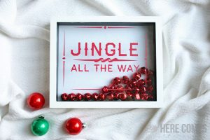 Holiday Shadow Box with Free Cut File