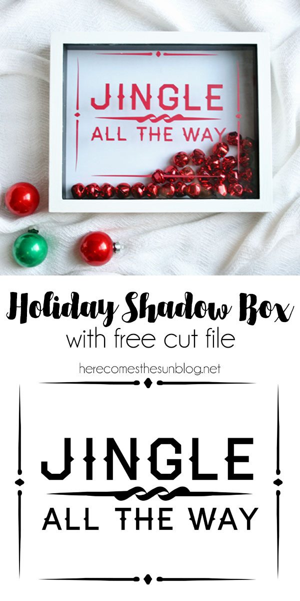 This holiday shadow box sign will add a festive touch to your home decor.