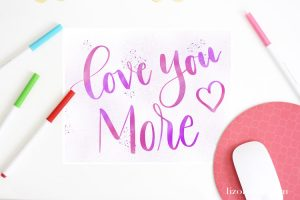 Hand Lettered Valentine's Printable