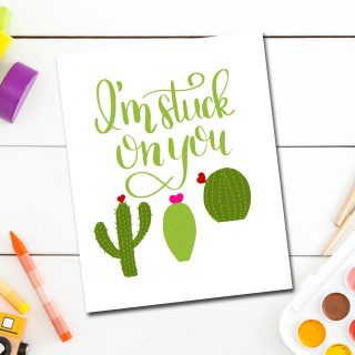 Hand Lettered Cactus Valentines