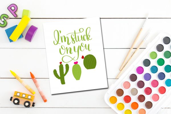 This hand lettered cactus valentine is sure to be a favorite with the kids. Free printable! Just download and print!