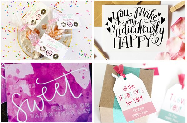 10 Hand Lettered Valentines your Kids Will Love to Give