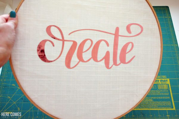 Make this adorable no-sew hoop art. No needle and thread needed!