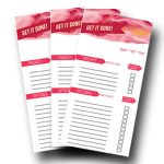 Use this printable to do list and keep your days on track! This to do list is colorful, cheery and will make you WANT to get your tasks done!