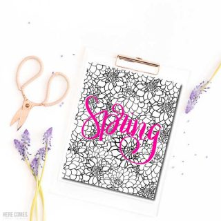 This spring flowers coloring page is fun to create and makes a perfect decoration for any room.