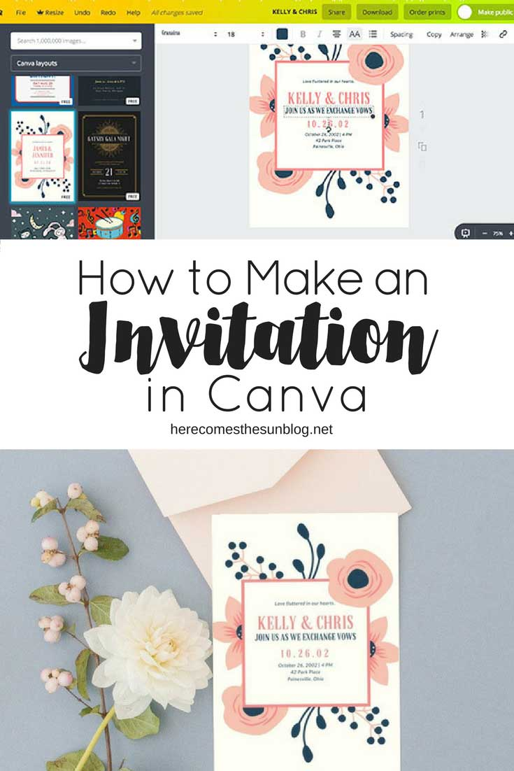 make invitations in canva