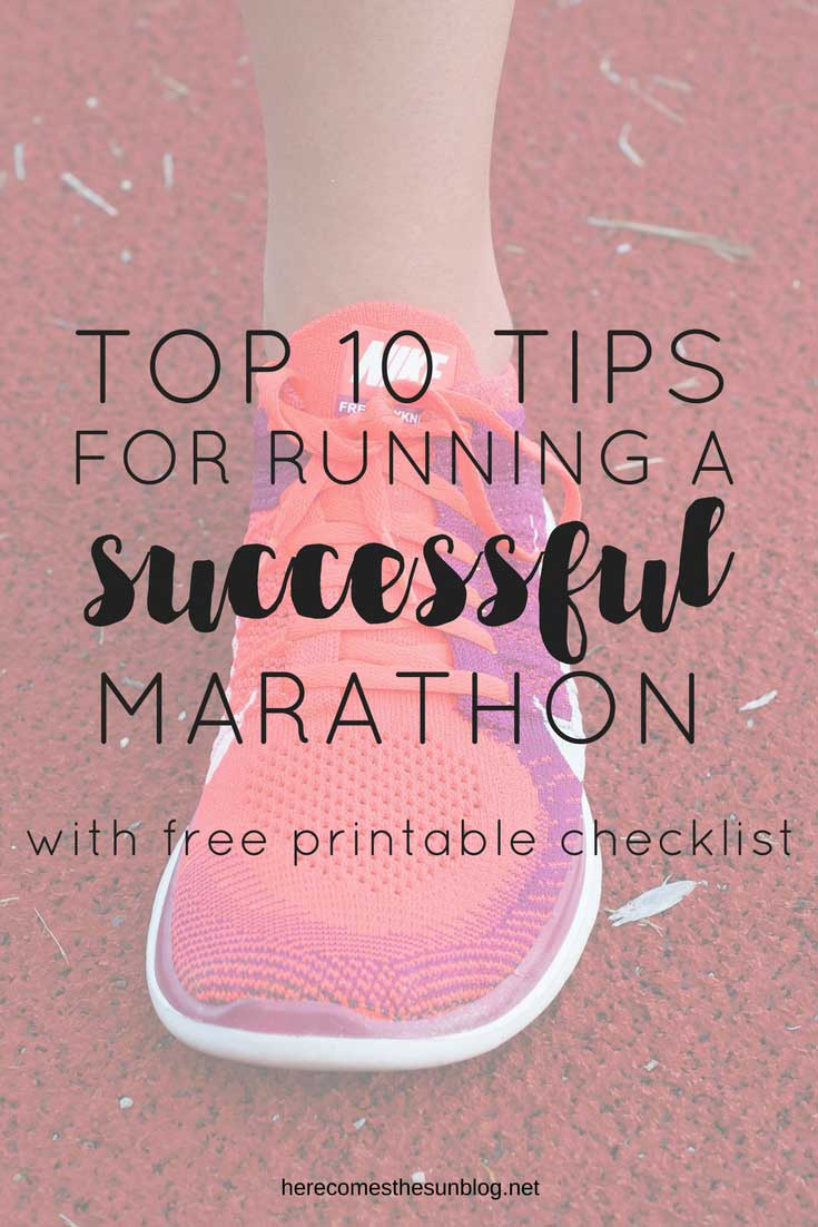 tips for running a successful marathon