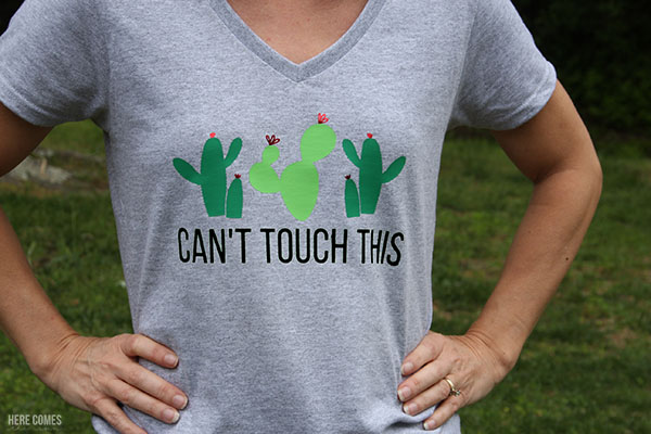 DIY Cactus Shirt with free cut file!