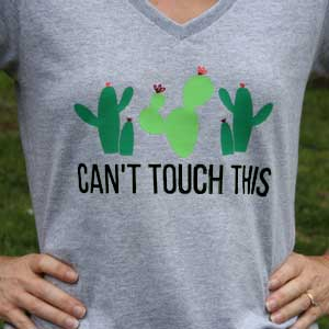 "DIY Cactus Shirt – ""Can't Touch This"""