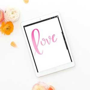 create watercolor brush lettering in procreate