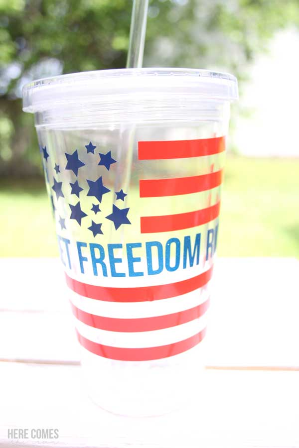 patriotic tumbler with vinyl