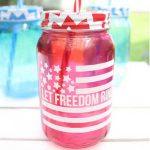 patriotic mason jar with vinyl