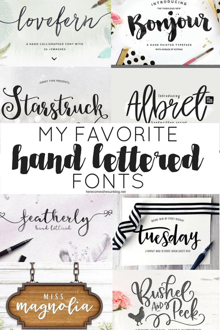 hand lettered fonts