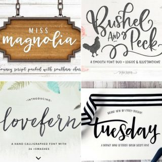 My Favorite Hand Lettered Fonts