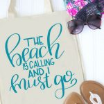 DIY beach bag with sandals